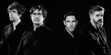 December 20, 2016. Durham, North Carolina.  Promotional photographs of The Mountain Goats for their new album GOTHS