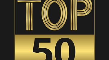 Top fifty golden sign for music video or other content