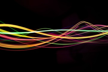 abstract sound waveforms of light